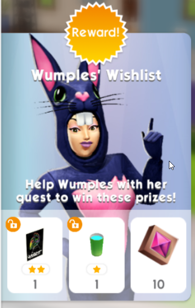 THE SIMS MOBILE WUMPLES' WISHLIST MARCH 23RD 2021