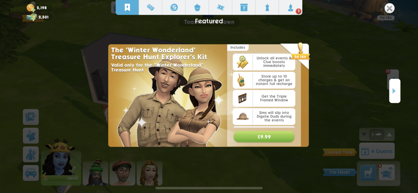 What is The Sims Mobile Treasure Hunt Explorer's Pack?