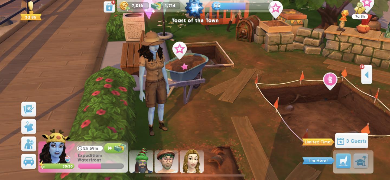 The Sims Mobile Treasure hunt Digsite Duds