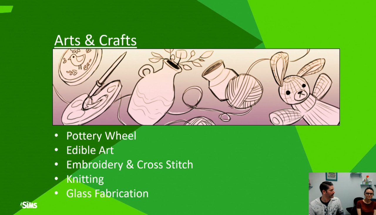 The Sims 4 Arts and Crafts