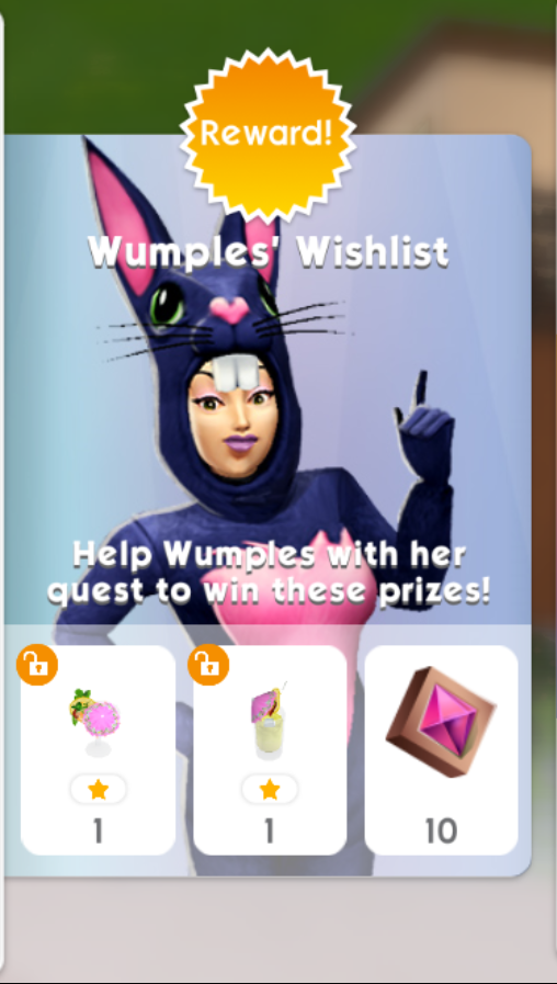 THE SIMS MOBILE WUMPLES' WISHLIST MAY 22ND 2021