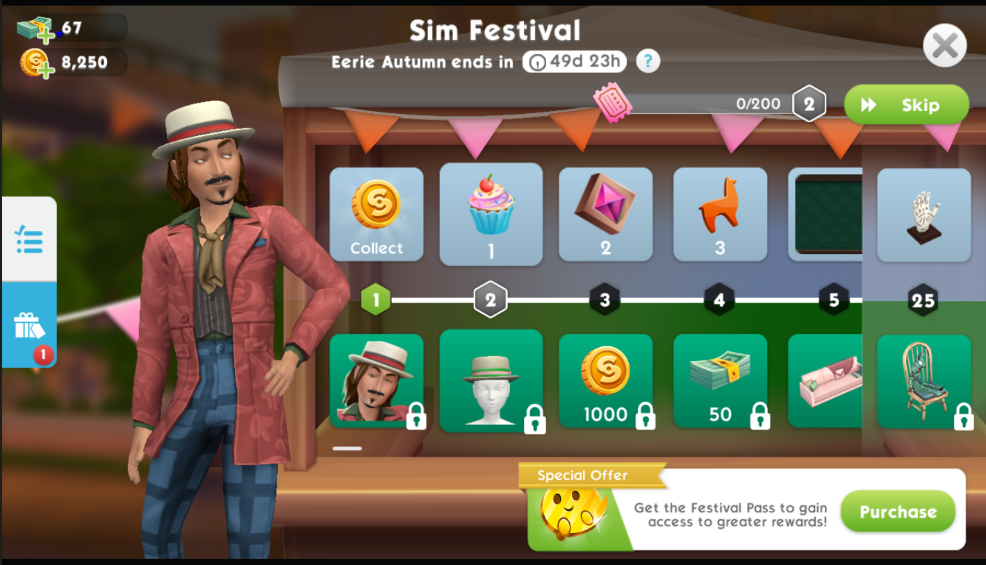 THE SIMS MOBILE Eerie Autumn SIM FESTIVAL PRIZE TRACK